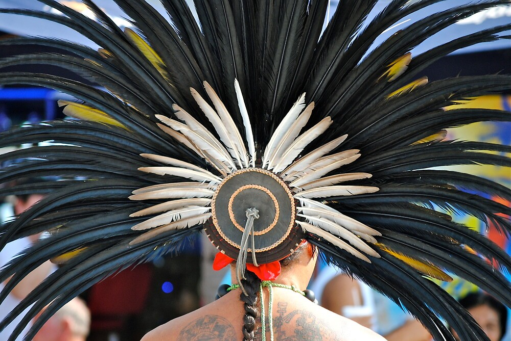 Aztec Dancer by richard  webb