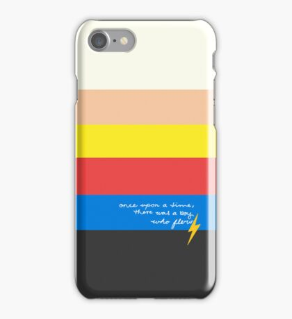 Once Upon A Time, There Was A Boy Who Flew. iPhone Case/Skin