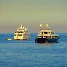 Anchored Off Cap Ferrat by Fara