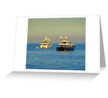 Anchored Off Cap Ferrat Greeting Card