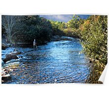 Afternoon Trout Fishing Poster