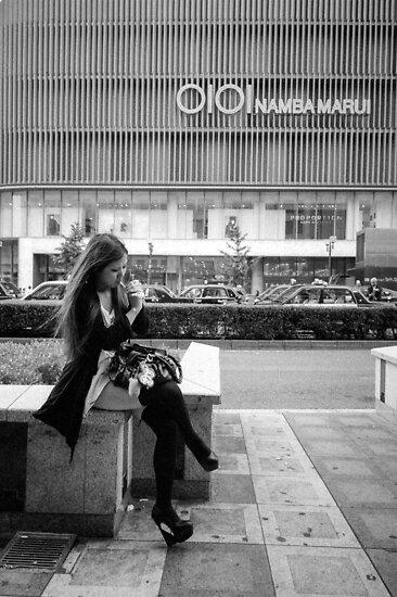 Smoking Girl by Abtin Eshraghi