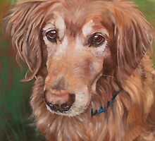 Golden Retriever Oil Painting by Bffpetpaintings
