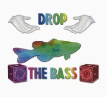 Drop The Bass - Rainbow Dubstep Shirt by Brian Schoeberle