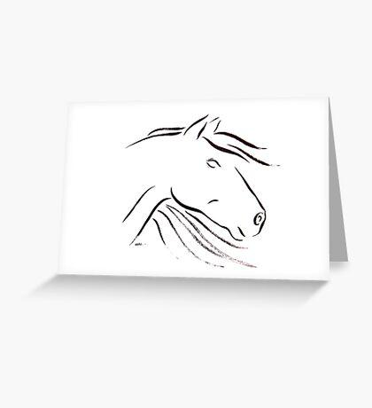 Horse Essence ii Greeting Card