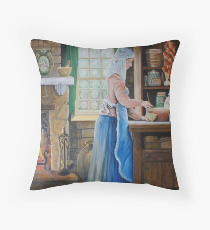 The Cook Finished & Signed Throw Pillow