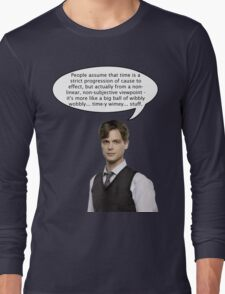spencer reid quotes the doctor Long Sleeve T-Shirt