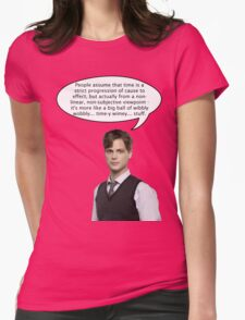 spencer reid quotes the doctor Womens Fitted T-Shirt