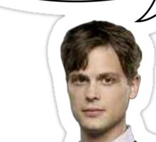 spencer reid quotes the doctor Sticker