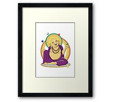 The Juggling Buddha - Color Framed Print