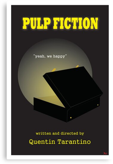 Pulp Fiction Minimalist Movie Poster by deeceethered