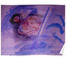 Last memory, watercolor Poster