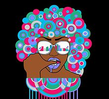 Afro in LA  by sayers