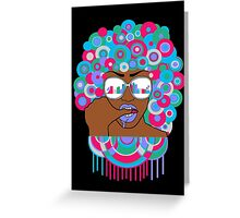 Afro in LA  Greeting Card