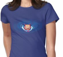 Ponyo Bubble Look Up Womens Fitted T-Shirt