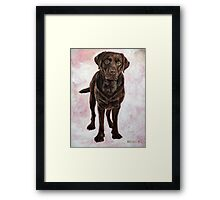 Chocolate Lab Painting Framed Print