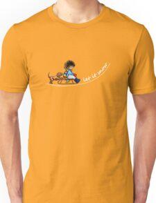Little Helper Let it Snow {dark apparel} Unisex T-Shirt