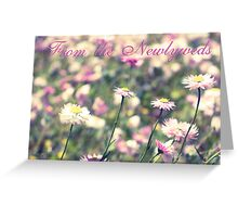 Celebration of Spring: From the newlyweds Greeting Card