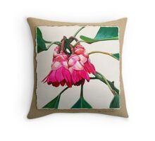 Hong Kong Rose Throw Pillow