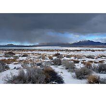 Wide Pyramid Lake Winter Photographic Print