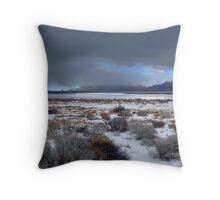 Wide Pyramid Lake Winter Throw Pillow