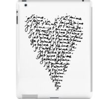 je t'aime ♥ i love you iPad Case/Skin