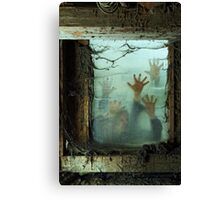 Zombies outside a window Canvas Print