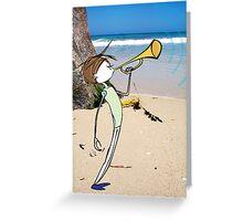 Bugle Boy Beach Greeting Card