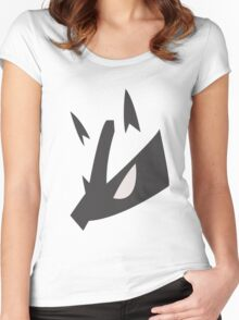 Lucario Pokemon Face Women's Fitted Scoop T-Shirt