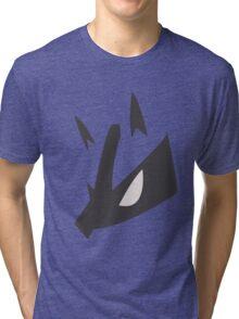 Lucario Pokemon Face Tri-blend T-Shirt