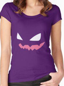 Haunter Pokemon Face Women's Fitted Scoop T-Shirt