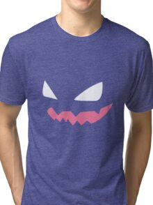 Haunter Pokemon Face Tri-blend T-Shirt
