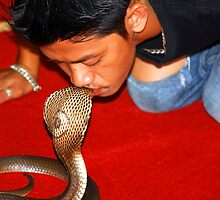 Have you ever tried kissing a snake???? by Chris Brunton