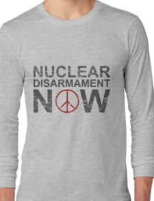 "Vintage Style ""Nuclear Disarmament Now"" T-Shirt Long Sleeve T-Shirt"