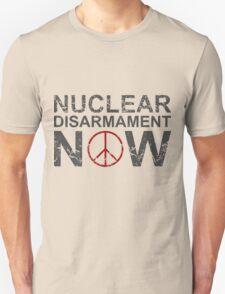 "Vintage Style ""Nuclear Disarmament Now"" T-Shirt T-Shirt"