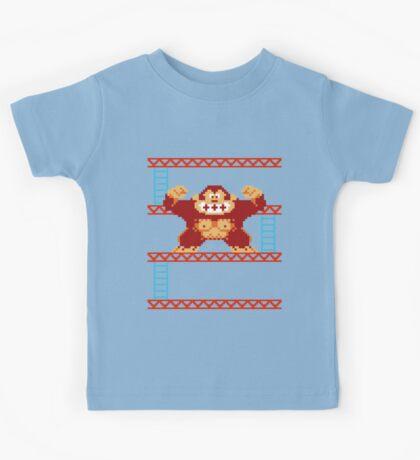 Classic 8 bit monkey  Kids Tee