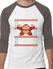 Classic 8 bit monkey  Men's Baseball ¾ T-Shirt