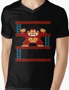 Classic 8 bit monkey  Mens V-Neck T-Shirt