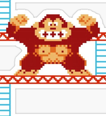 Classic 8 bit monkey  Sticker
