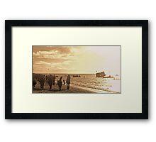 Exmouth Beach, Christmas Morning 2012. Framed Print