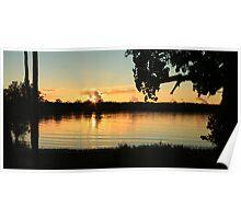 Sunrise North Creek Ballina NSW Poster