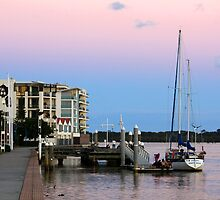 Sunset Richmond River Ballina NSW by Emmy Silvius