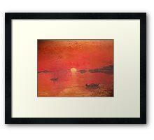 A Fiery Spanish Sunset Framed Print