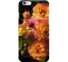 orange roses with dew iPhone Case/Skin