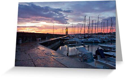 Desenzano Del Garda Marina waterfront and the Lighthouse by kirilart