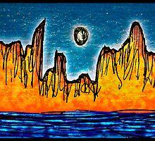 Mountainous island by DFLCreative