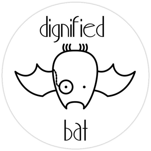 Dignified Bat (Sticker) by Josh Bush