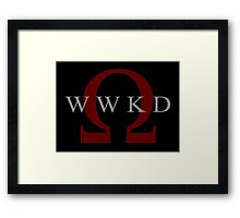 What Would Kratos Do? Framed Print