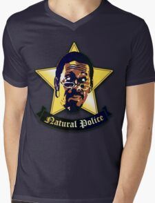 """Natural Po-lice  (""""The Wire"""") Mens V-Neck T-Shirt"""