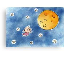Hello Moon Friend Canvas Print